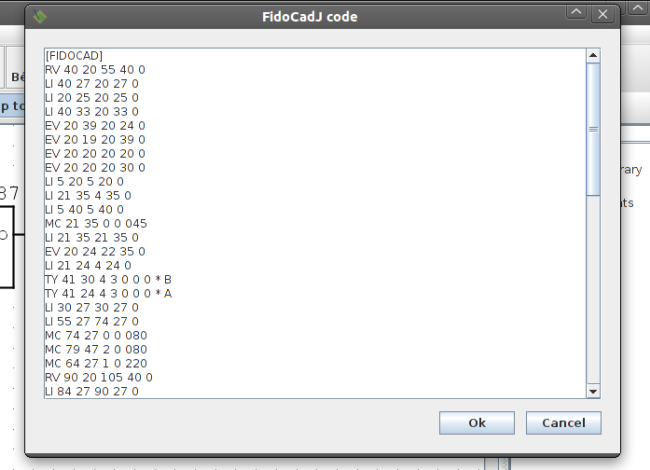 Fig. 5: The generated code, copied in the clipboard with Control-C (or Command-C)