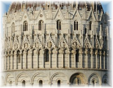 Battistero di San Giovanni (Pisa) (part. da photo by keepwaddling1 on Flickr)